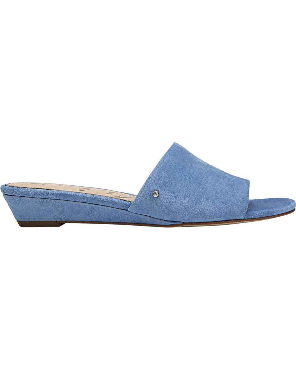 6adf0a12392a Lyst - Sam Edelman Liliana Wedge Sandal in Blue - Save 46%
