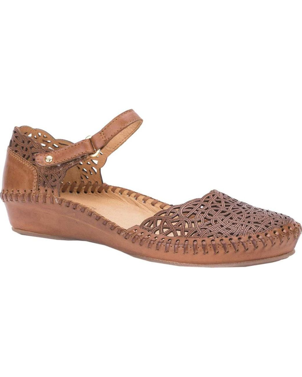 8a0501366 Lyst - Pikolinos Puerto Vallarta Closed Toe Sandal 655-1532 in Brown