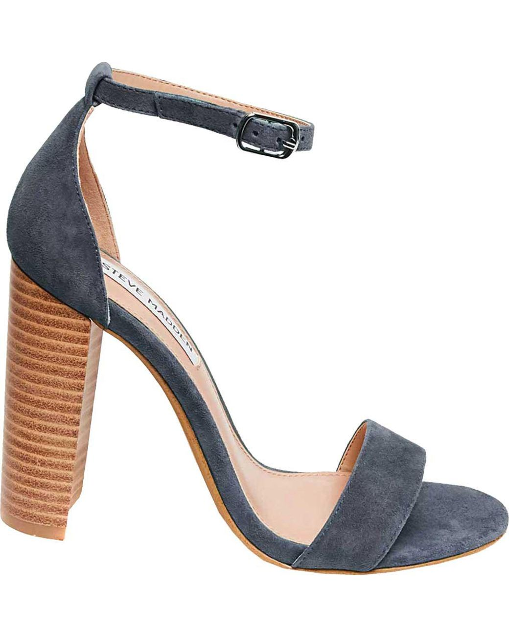 19dbf8aecaf4 Lyst - Steve Madden Carrson Ankle Strap Sandal in Blue - Save 73%