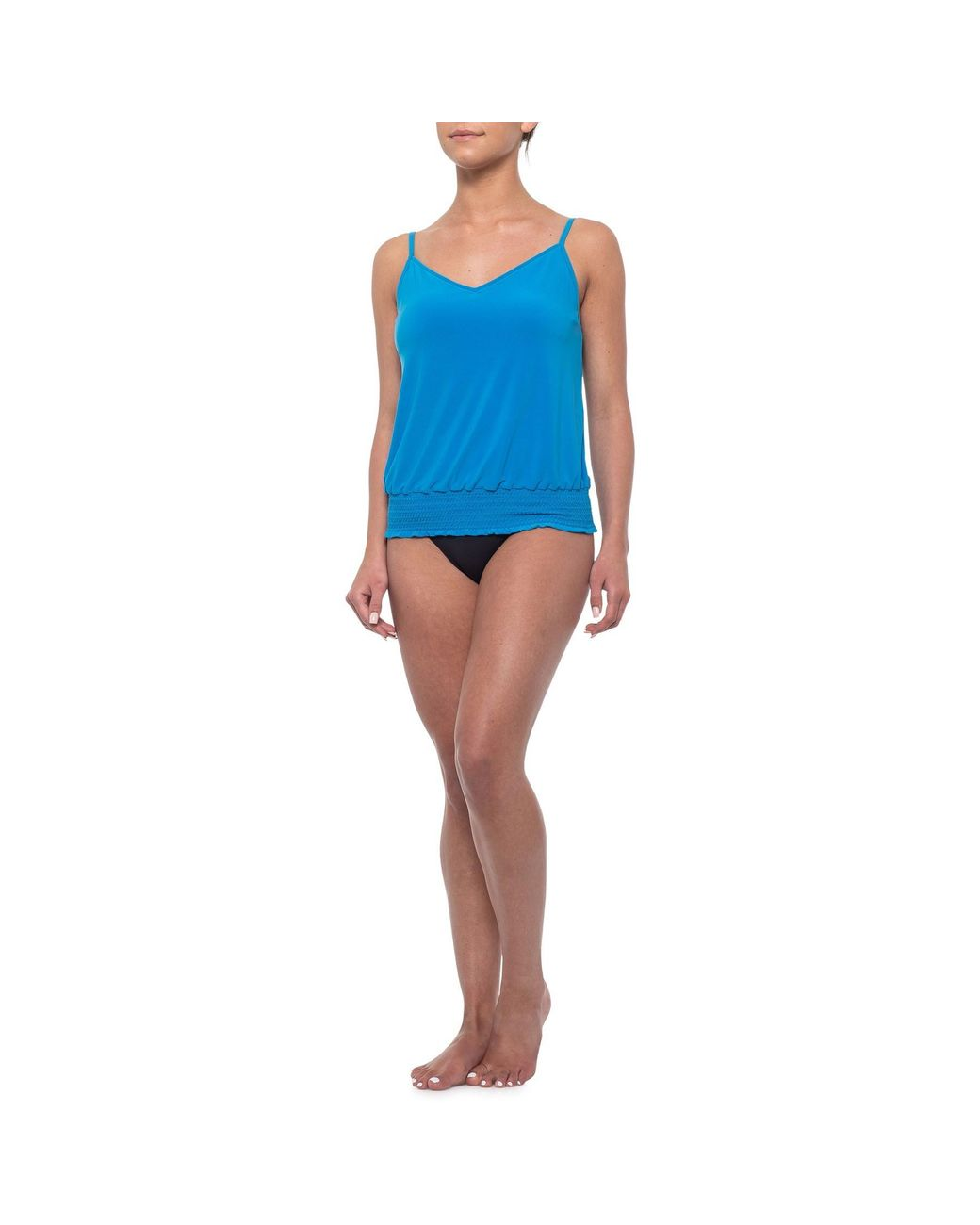 4ba6112bcb Miraclesuit Solid Justina Tankini Top (for Women) in Blue - Lyst