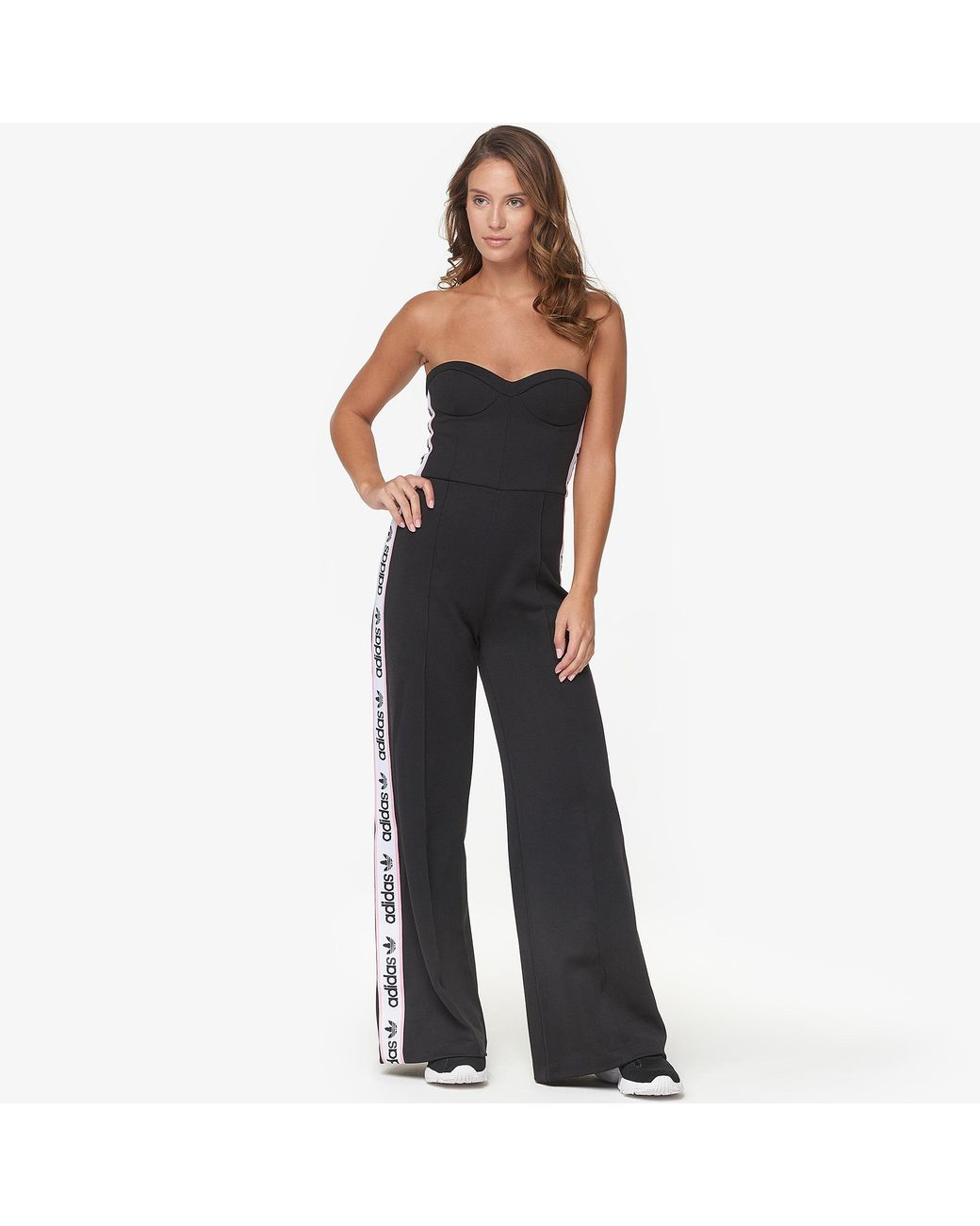 46ea4287644c Long-Touch to Zoom. Adidas - Black Falcon Bodice Jumpsuit ...