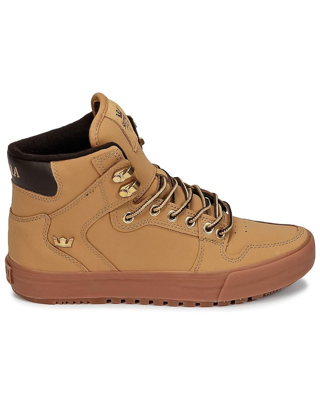 dd1fe0ead5e Supra Vaider Cw Men's Shoes (high-top Trainers) In Brown in Brown for Men -  Lyst