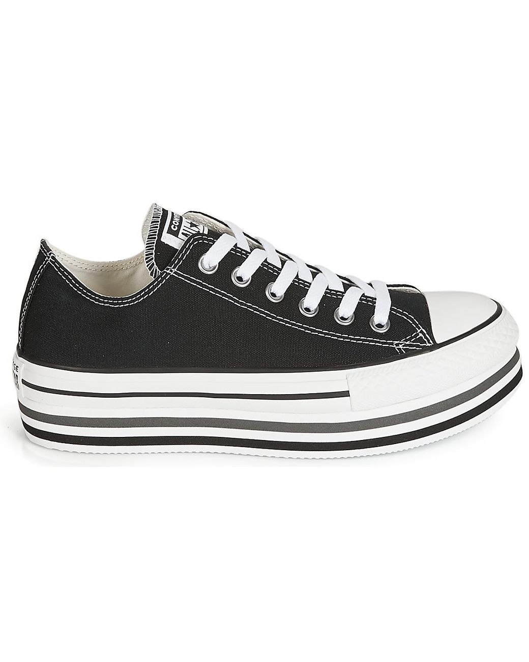 908550cabe5c Converse Chuck Taylor All Star Platform Eva Layer Canvas Ox Shoes (trainers)  in Black - Save 32% - Lyst