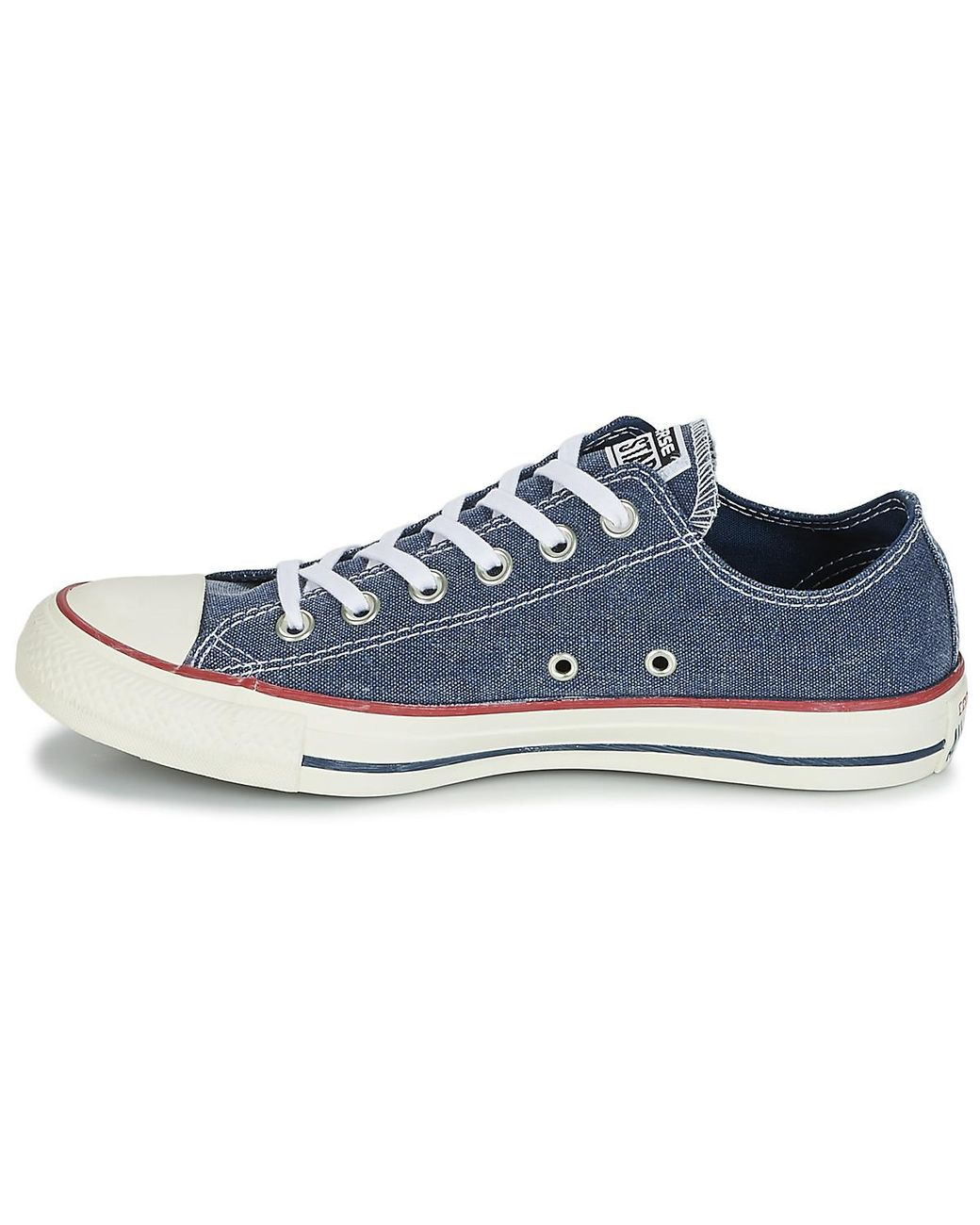 98f1237563d6 Converse Chuck Taylor All Star Ox Stone Wash Men s Shoes (trainers) In Blue  in Blue for Men - Lyst