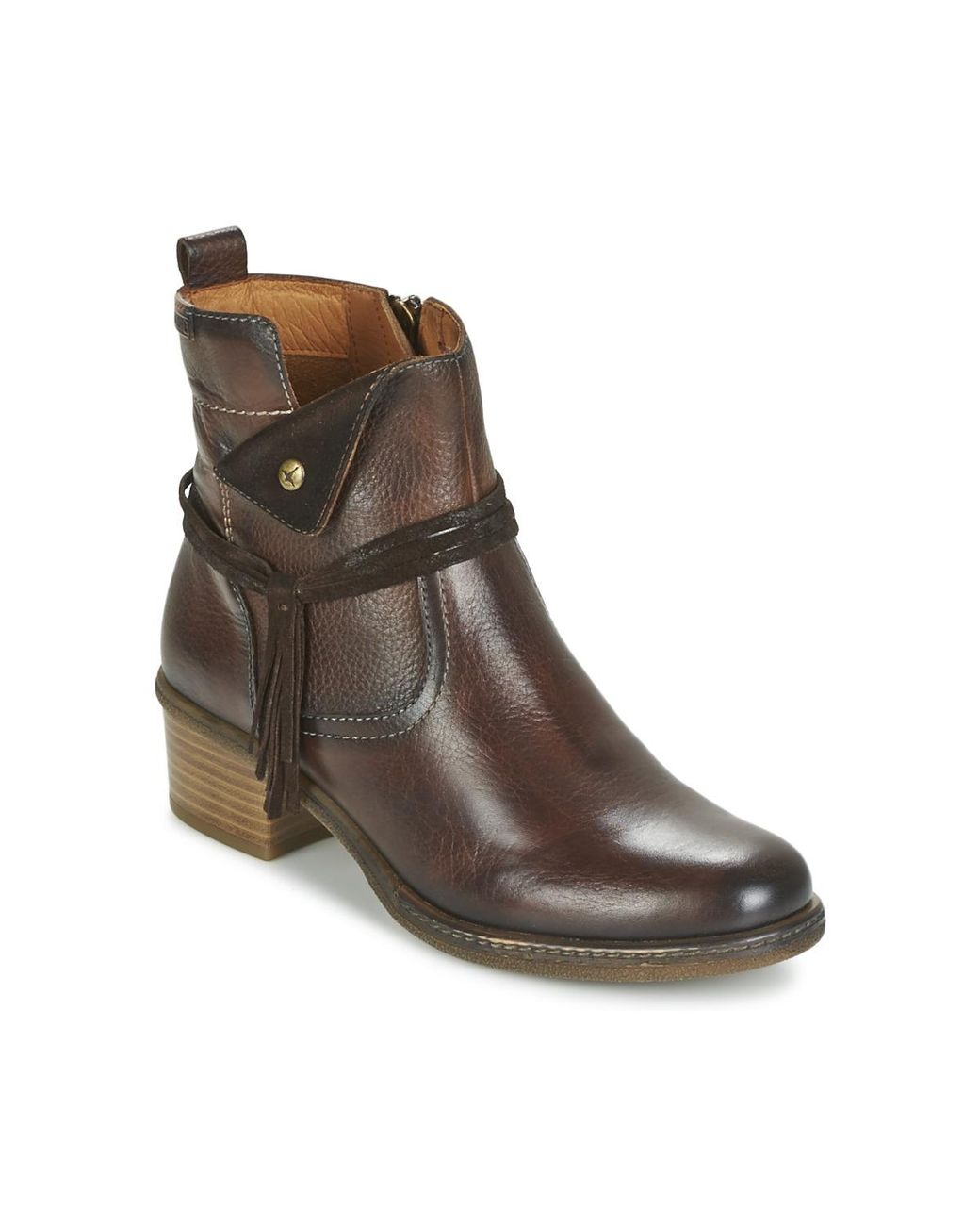 f2471fa35ec6c Pikolinos Zaragoza W9h Women's Low Ankle Boots In Brown in Brown ...