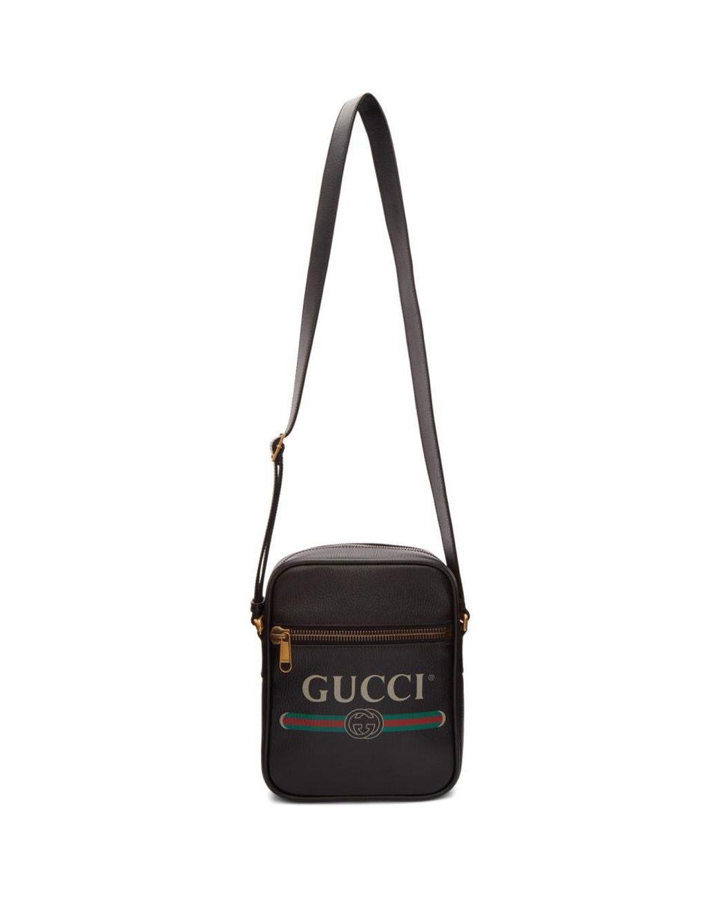 4f0a8b14e Gucci Black Vintage Logo Messenger Bag in Black for Men - Lyst