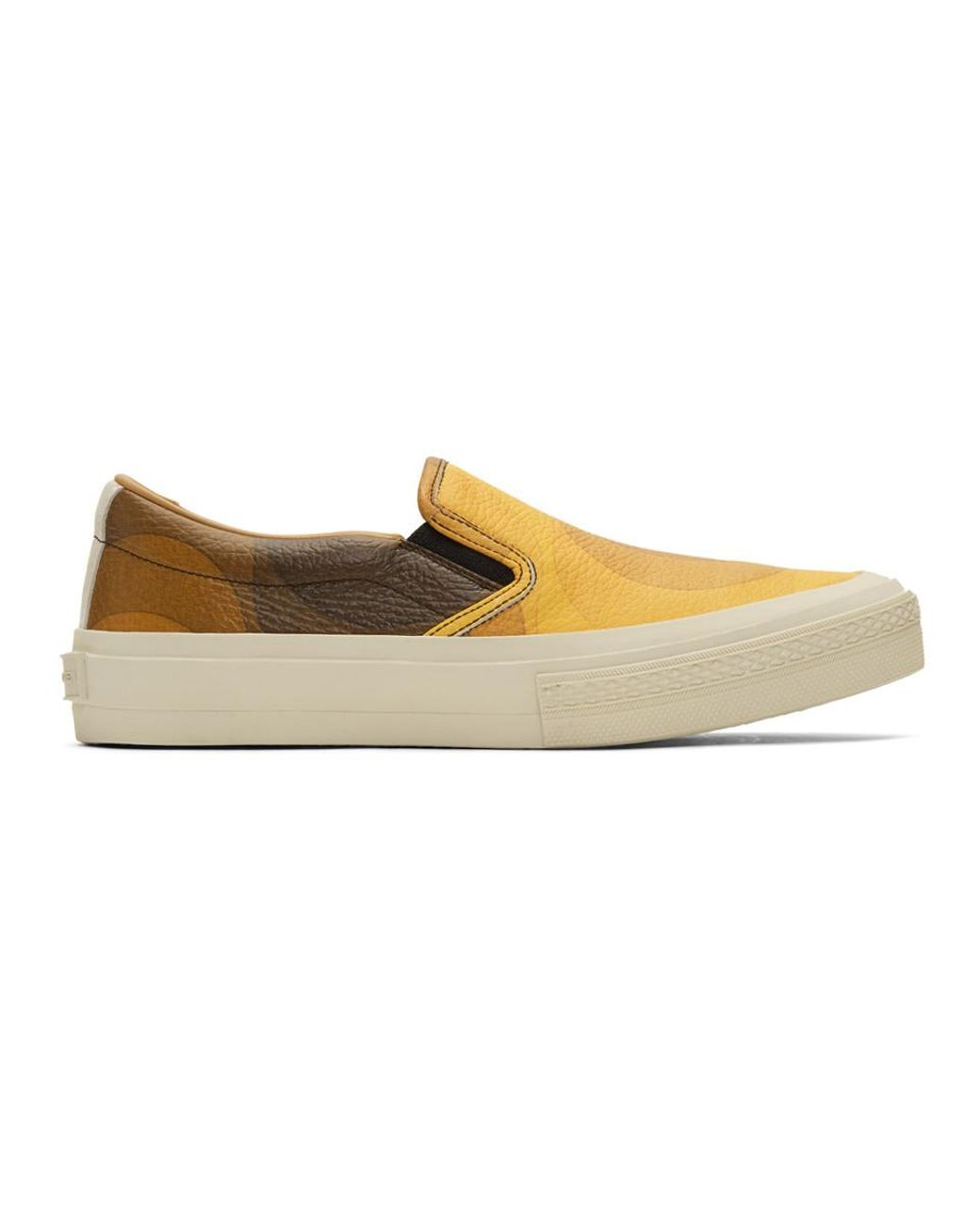 c5b4d1e57a97e3 Dries Van Noten. Men s Yellow And Brown Verner Panton Edition Leather  Sneakers