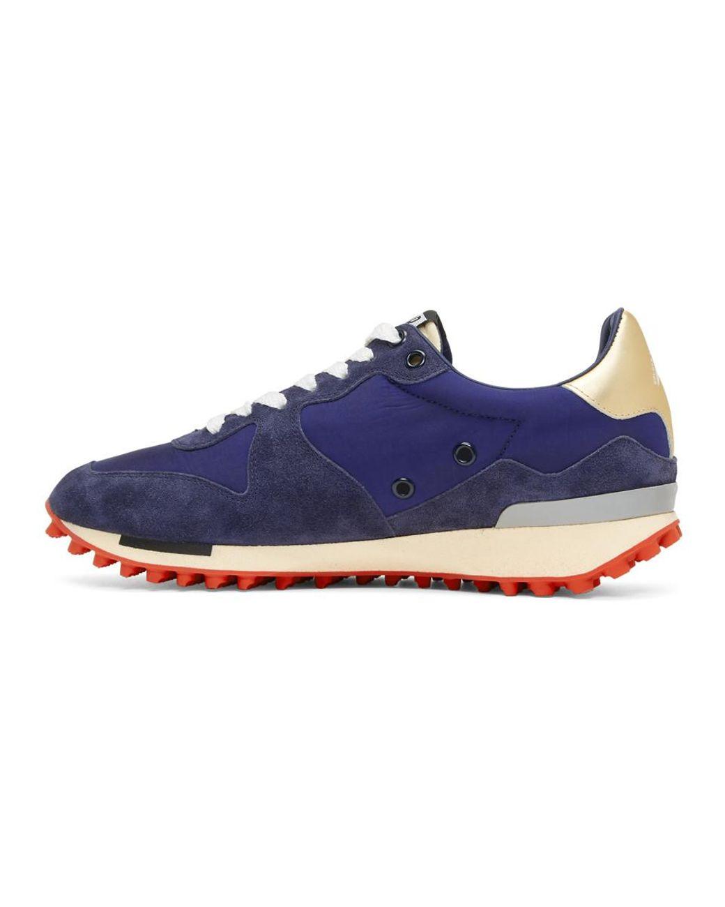 cfa886b2142e7 Golden Goose Deluxe Brand Men s Blue Nylon Starland Trainers Release