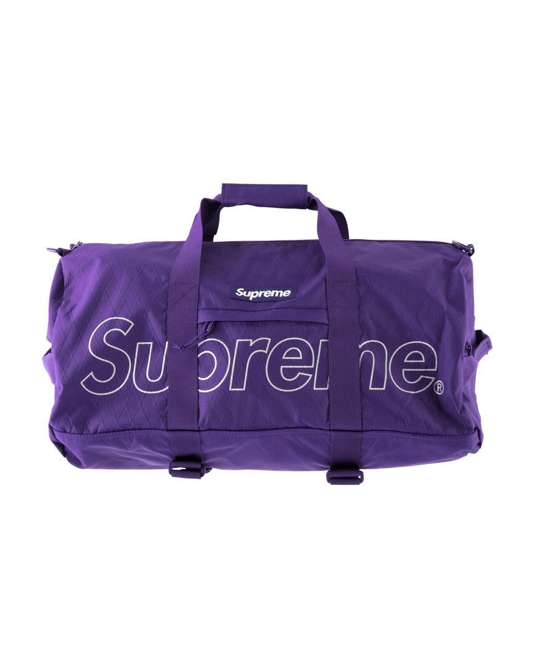 6b8a088c406f Supreme Duffel Bag in Purple for Men - Lyst