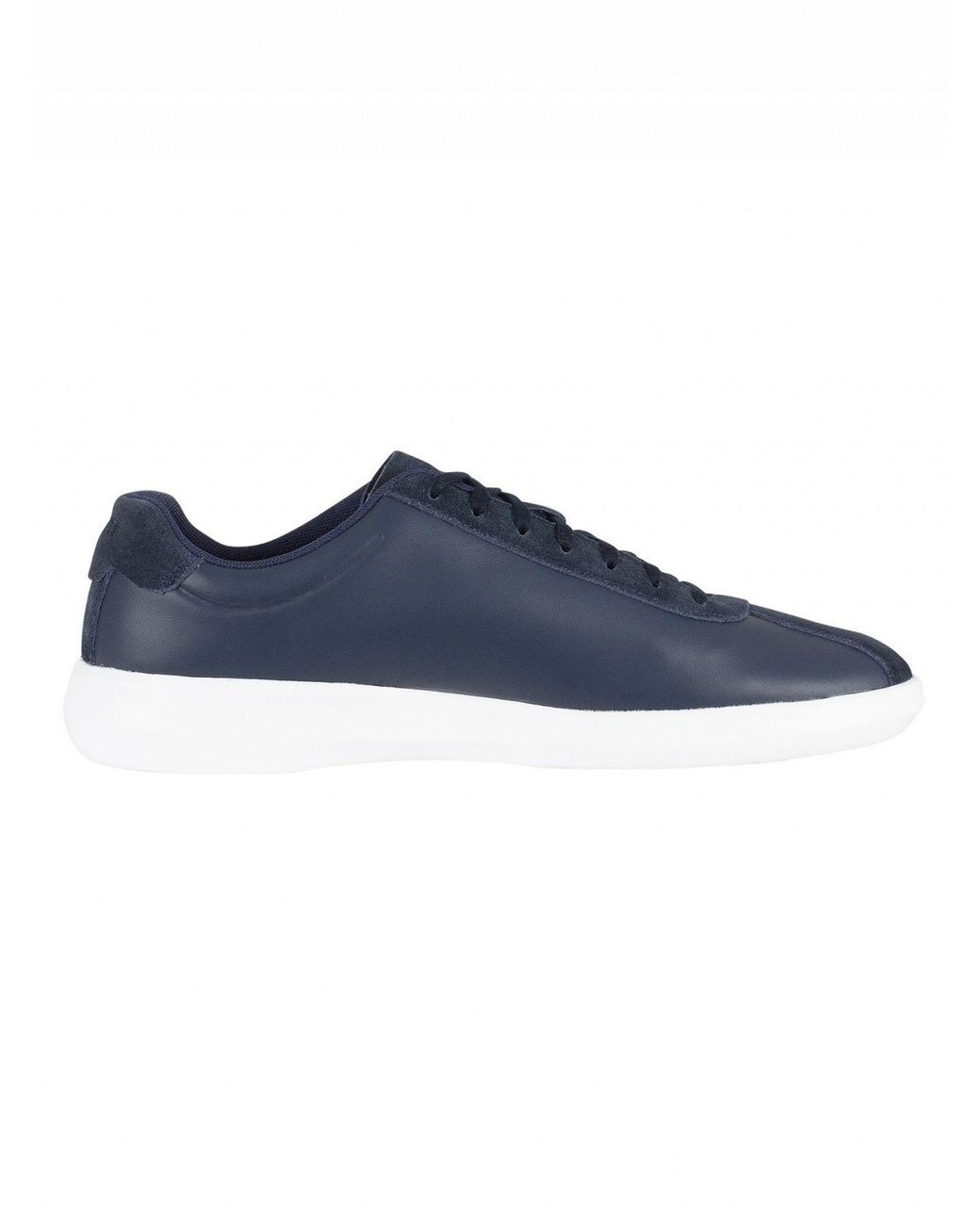 b97997a58690 Lyst - Lacoste Navy white Avance 318 2 Spm Trainers in Blue for Men