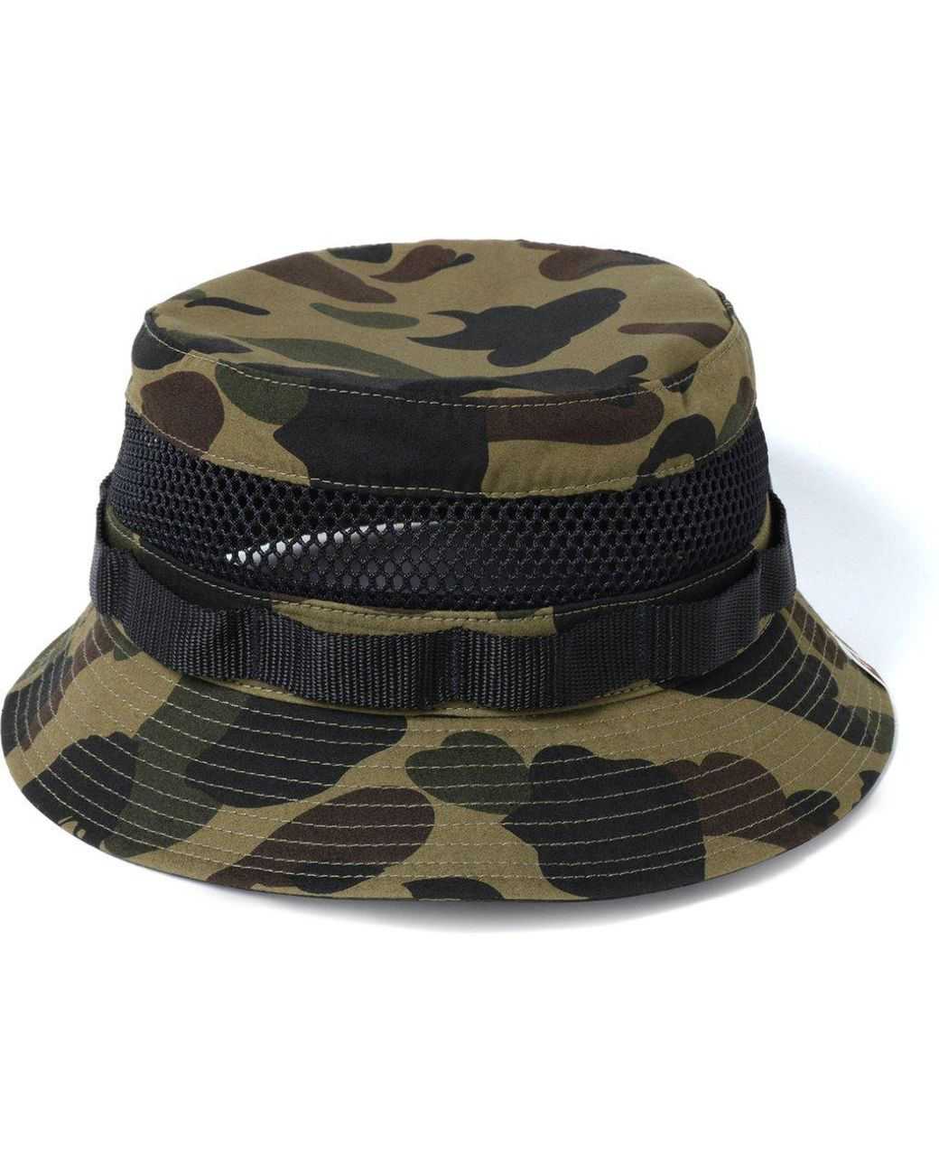 ee67ce84570 Lyst - A Bathing Ape 1st Camo Military Mesh Hat Green in Green for Men