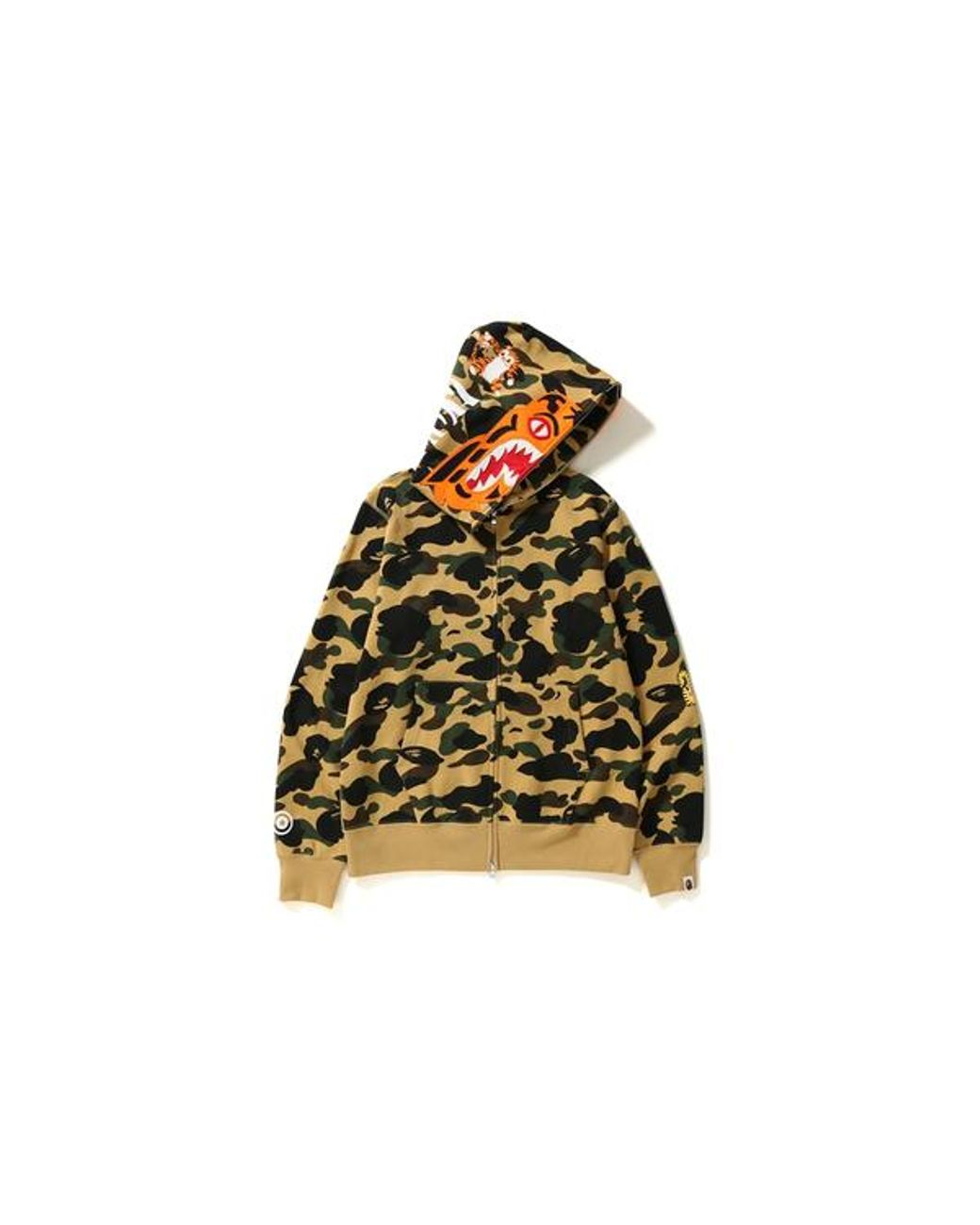 923ec6e4 A Bathing Ape 1st Camo Tiger Full Zip Hoodie Yellow in Yellow for Men - Lyst