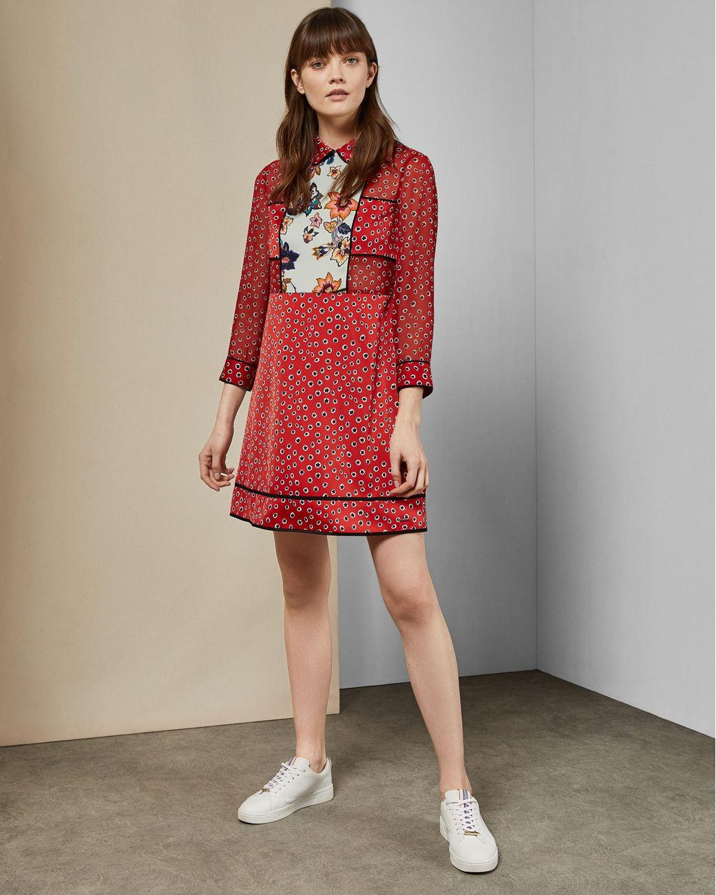 afb8a49018c9 Lyst - Ted Baker Valoria Floral Dress in Red - Save 30%