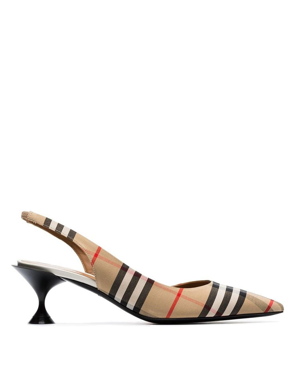1275a8aac9 Burberry Vintage Check Leticia Pumps in Natural - Save 6% - Lyst
