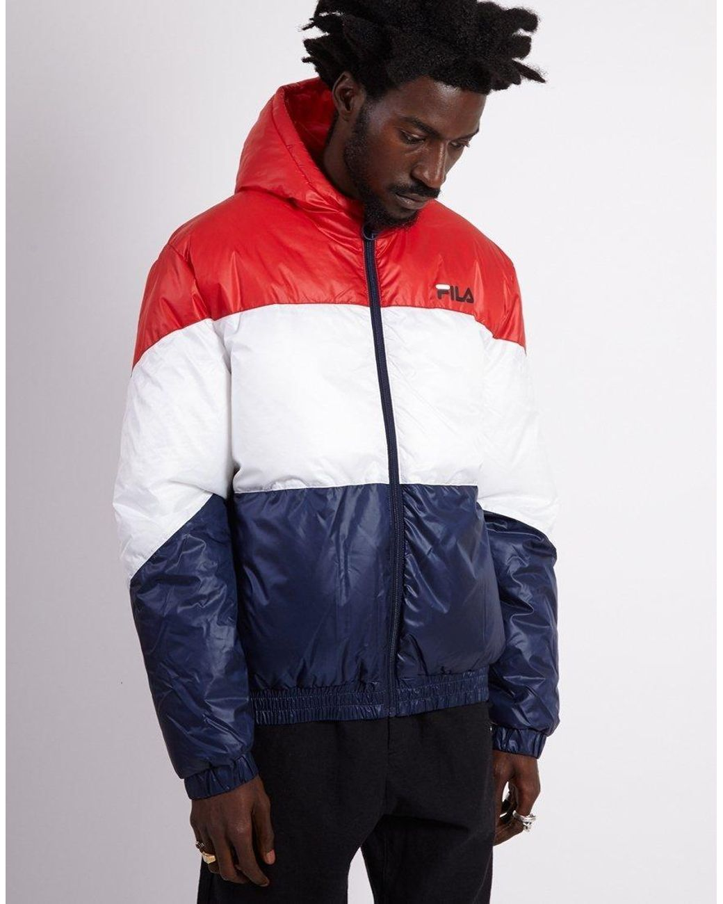 8e5cdf10dc63 Fila Reyton Hooded Jacket in Red for Men - Save 54% - Lyst