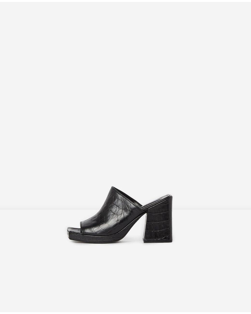De Cuña Negro Color Kooples Lyst Negras The Sandalias Piel PymN80Ovnw