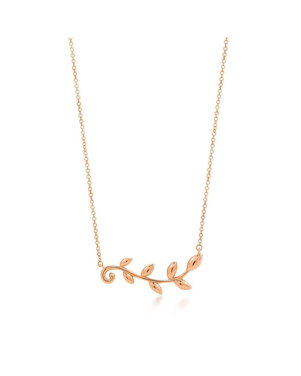 da7125f11 Tiffany Olive Leaf Necklace Gold - The Gold Picture