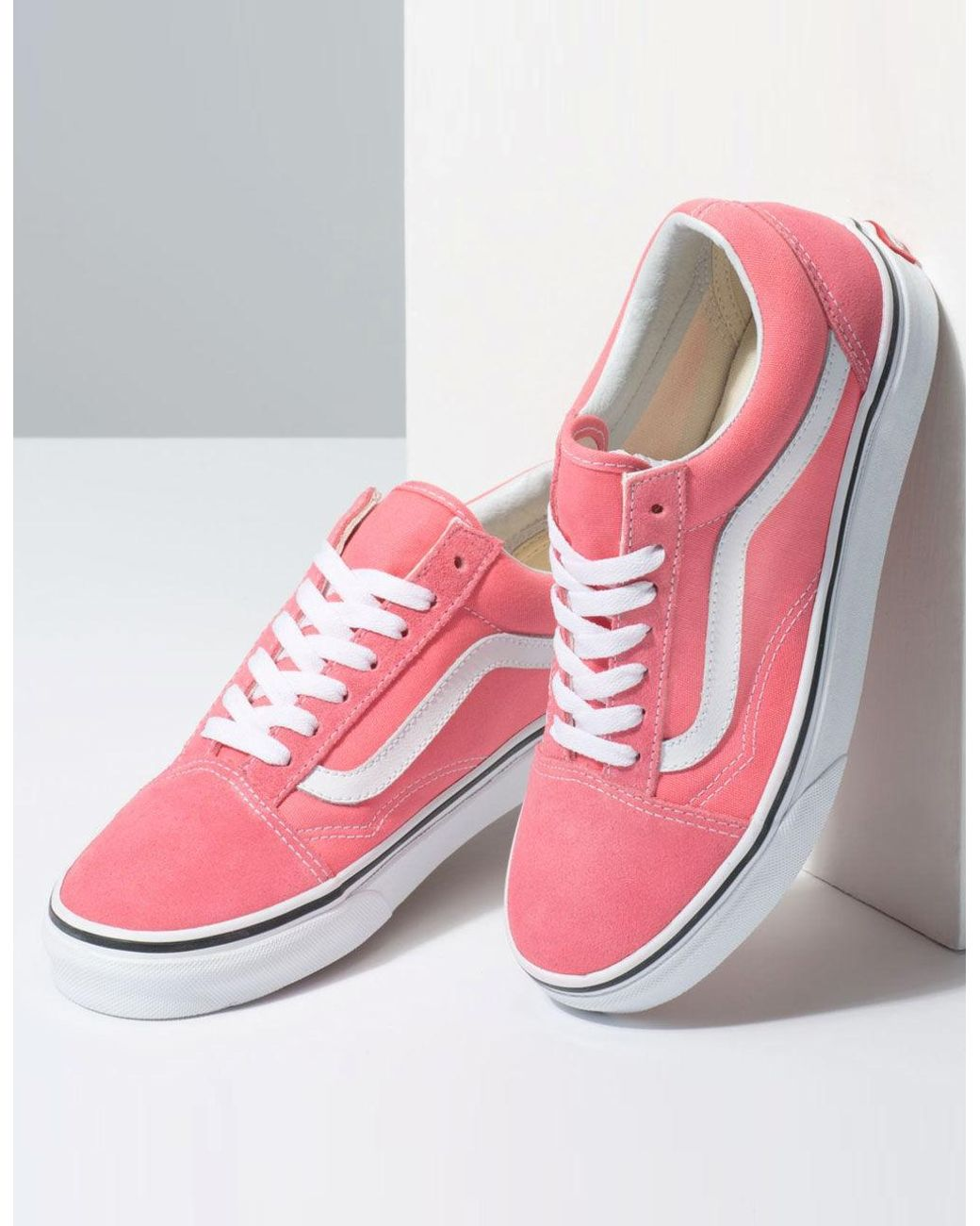 2a63644140 Lyst - Vans Old Skool Strawberry Pink   True White Womens Shoes in Pink -  Save 23%