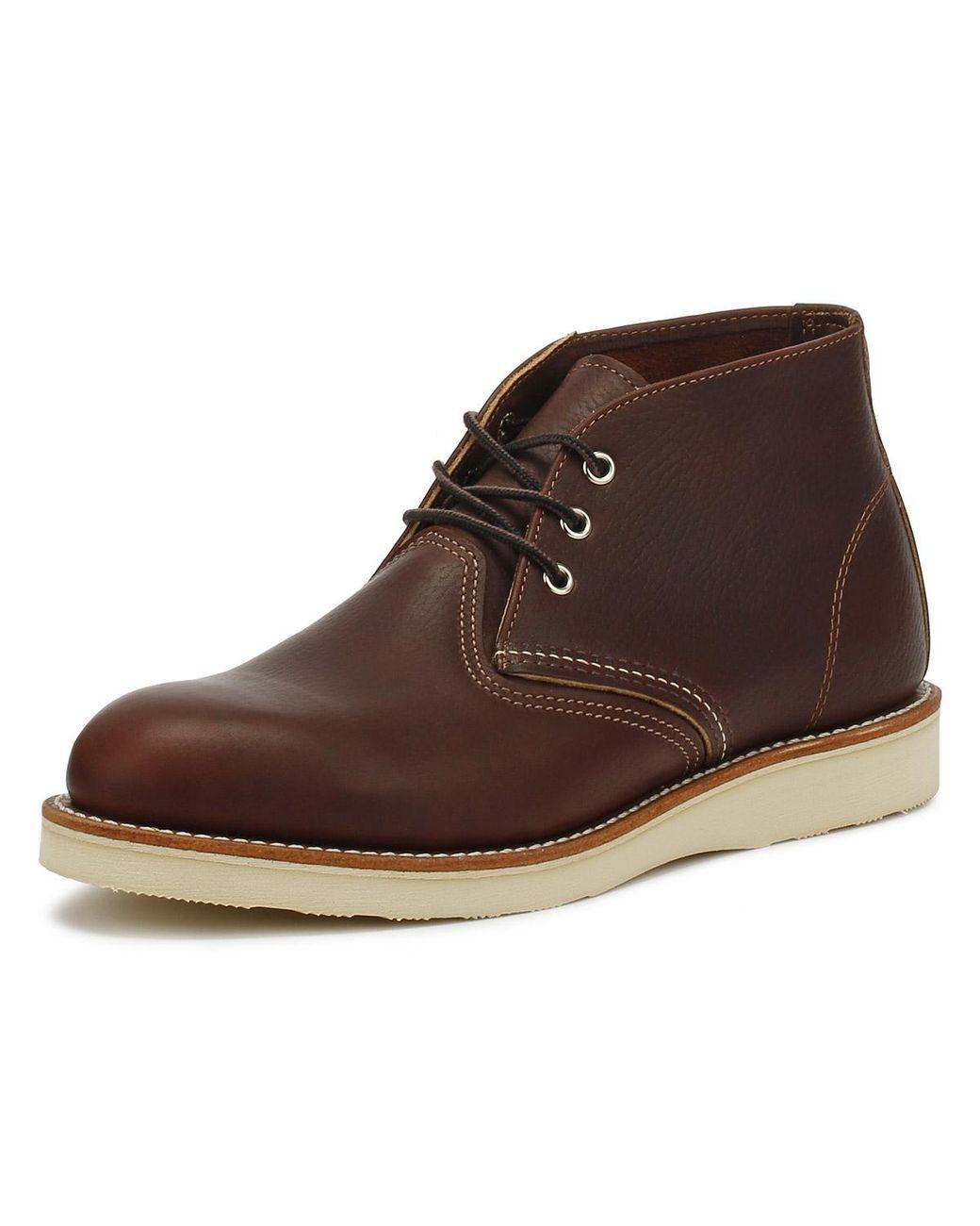 df6c1397ebb Red Wing - Mens Briar Oil Slick Dark Brown Chukka Boots for Men - Lyst