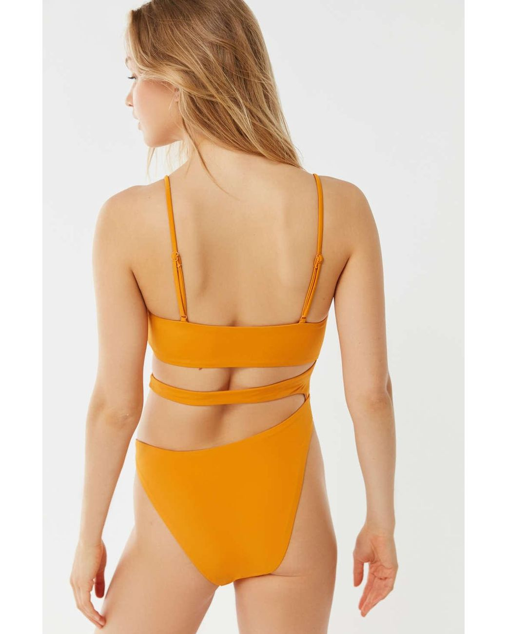 5f4552fd4a9c Out From Under Abalone Strappy Asymmetrical One-piece Swimsuit in Orange -  Lyst
