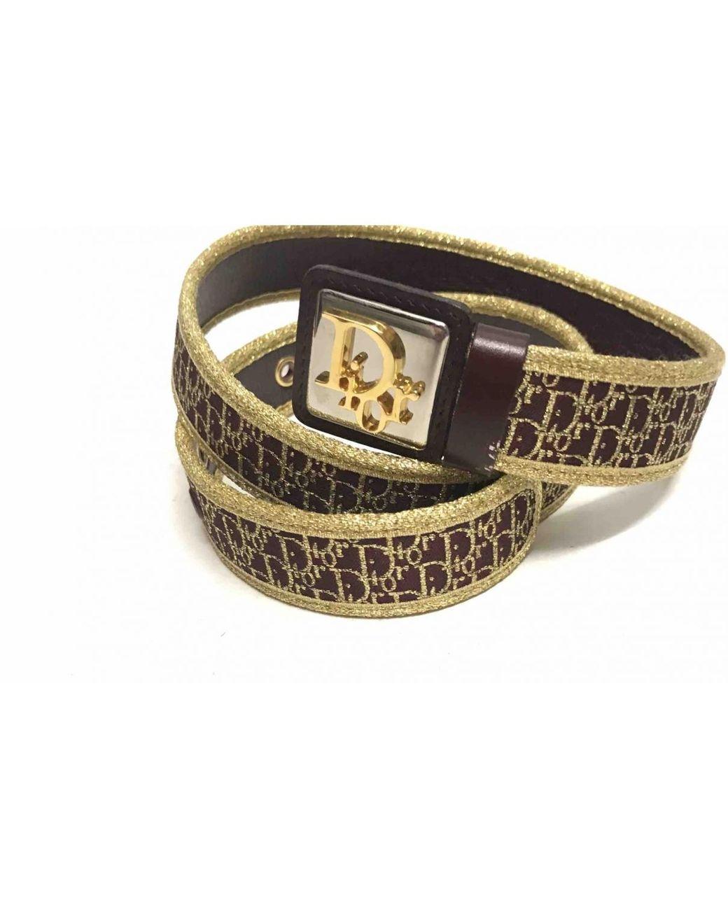 f3c2fdea8f86 Dior Vintage Burgundy Other Belts in Metallic - Lyst