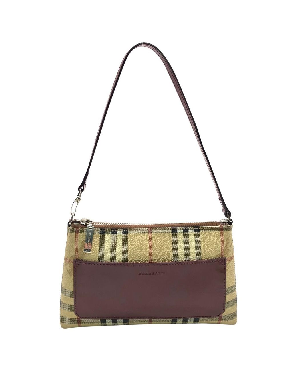 2bfa94cb9972 Long-Touch to Zoom. Burberry - Natural Pre-owned Beige Cloth Handbags ...