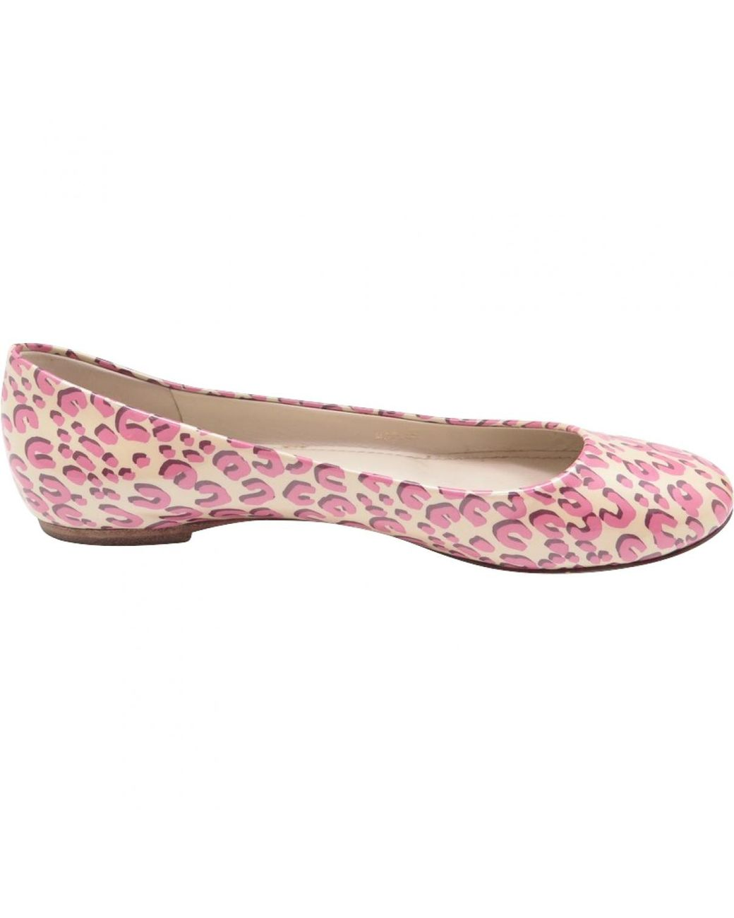 8e09f542f611 Louis Vuitton Patent Leather Ballet Flats in Pink - Lyst