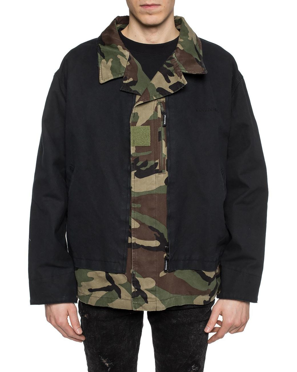 31dd04936 Balenciaga Camo Jacket in Black for Men - Save 56% - Lyst