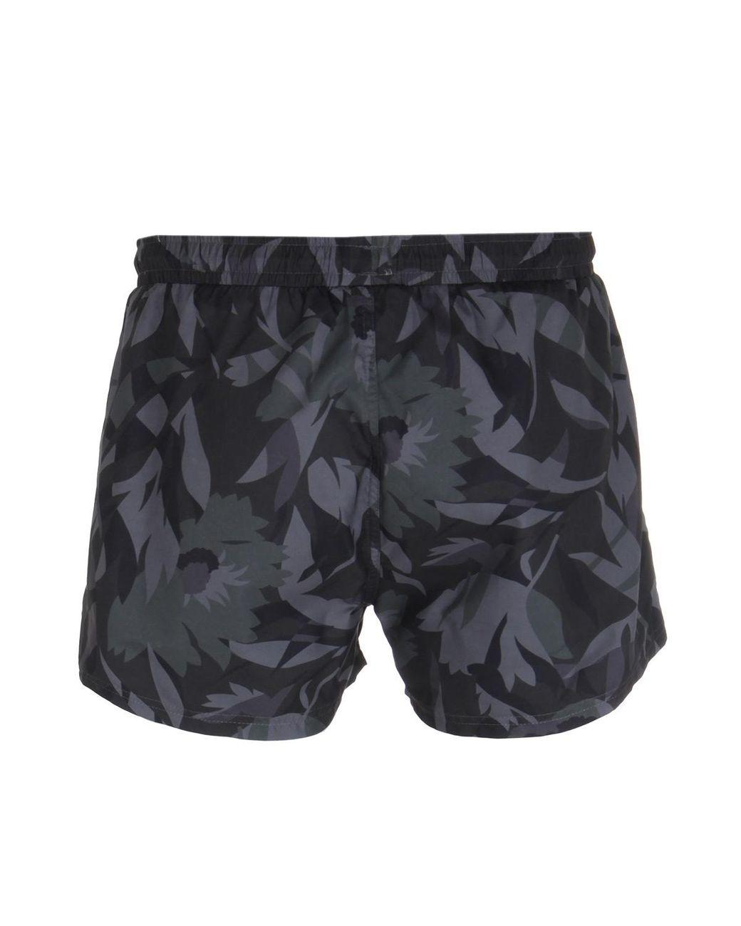 27ea1dfd9 BOSS Barreleye Contrast Print Swim Shorts in Black for Men - Lyst
