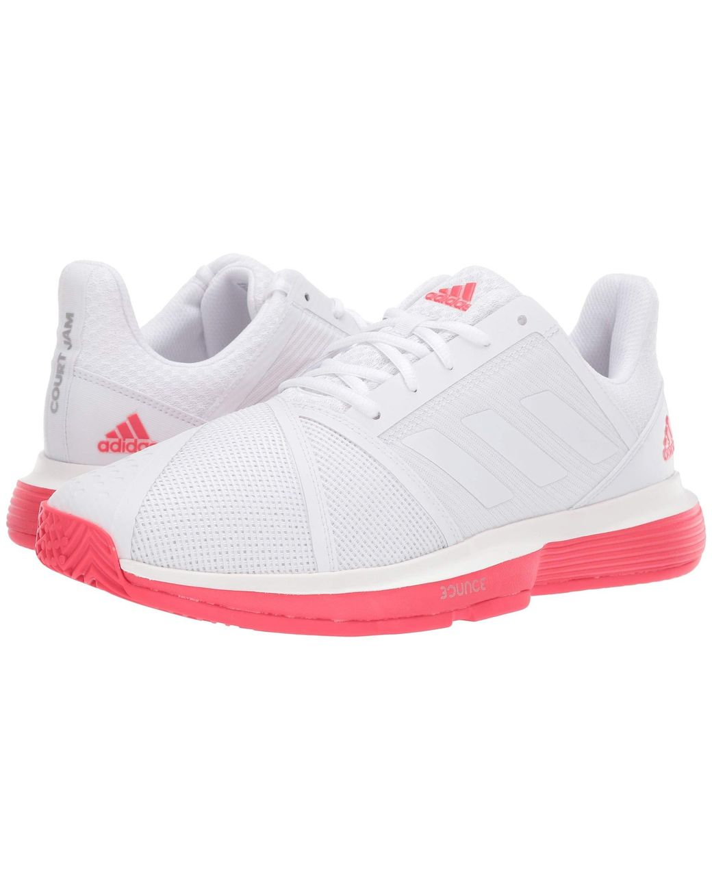 edadf98ee3ae1 Lyst - adidas Courtjam Bounce (footwear White footwear White shock Red) Men s  Shoes in White for Men