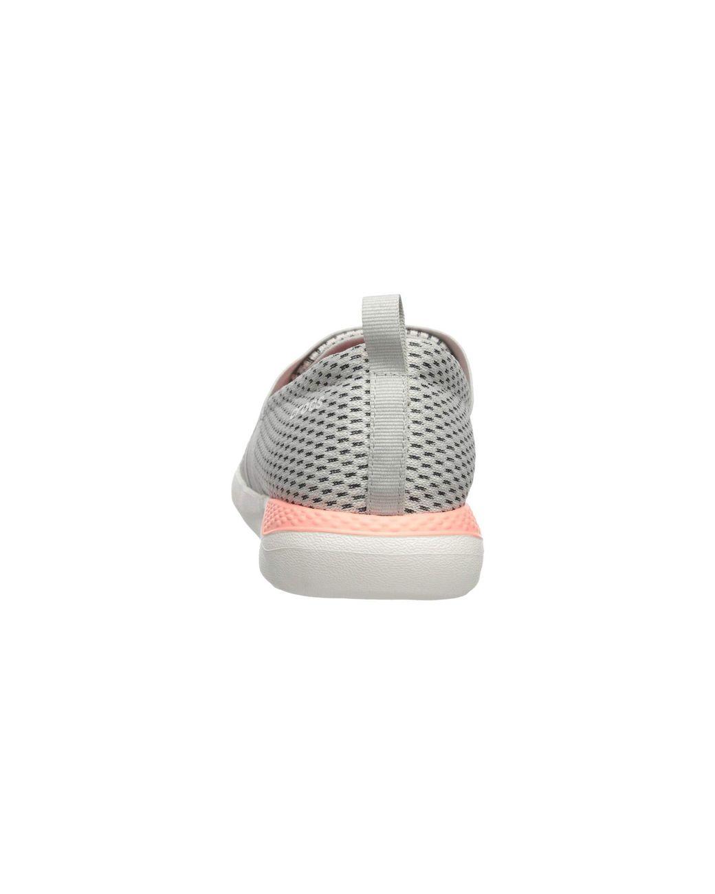 a5523d18030c Lyst - Crocs™ Literide Mesh Slip-on Sneaker in White - Save 29%