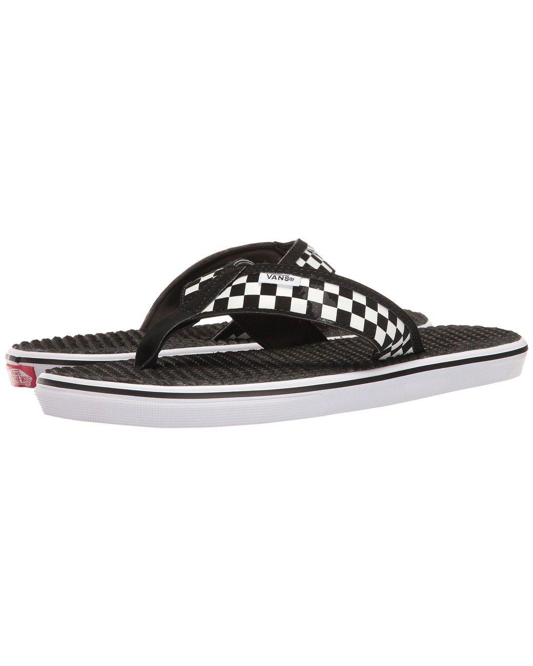 127ec78835b49b Lyst - Vans La Costa Lite ((checkerboard) Black white) Men s Sandals ...