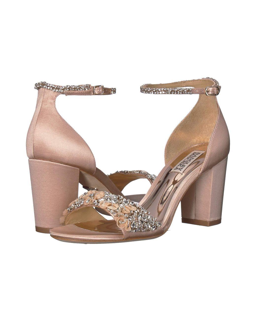603ed8724 Lyst - Badgley Mischka Finesse (ivory Satin) Women s Shoes