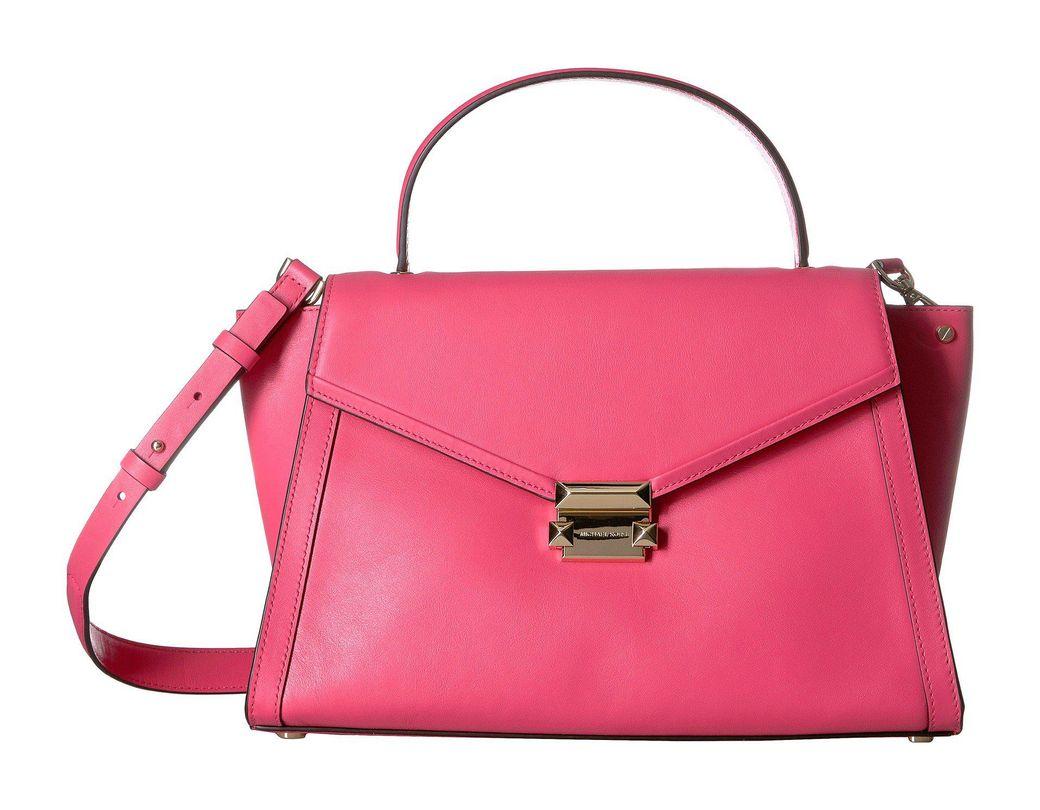 50f5eca27f07 MICHAEL Michael Kors Whitney Large Top-handle Satchel in Pink - Save 23% -  Lyst