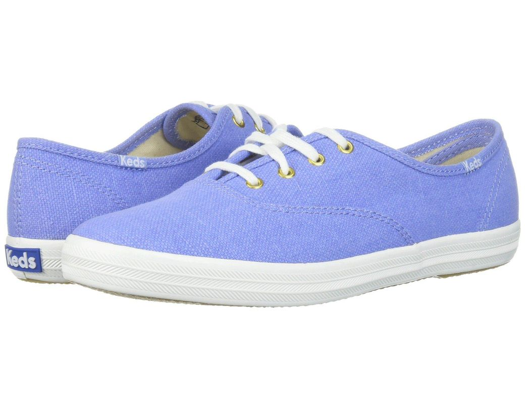 dddce8d4ea12e Lyst - Keds Champion Chalky Canvas in Blue - Save 21%