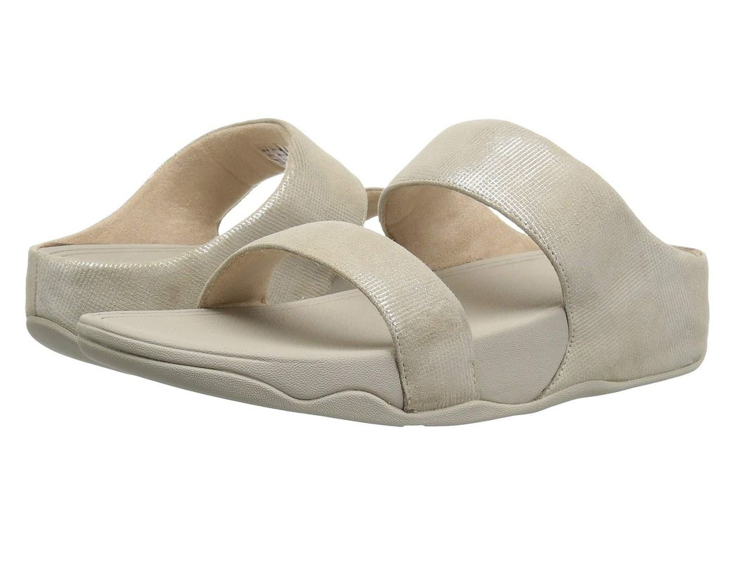 0375c1d82 Lyst - Fitflop Lulu Slide Sandals - Shimmer-check - Save 59%