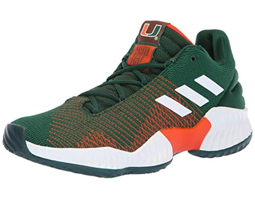 daf7e58fd Lyst - adidas Originals Pro Bounce 2018 Low Basketball Shoe in Green ...