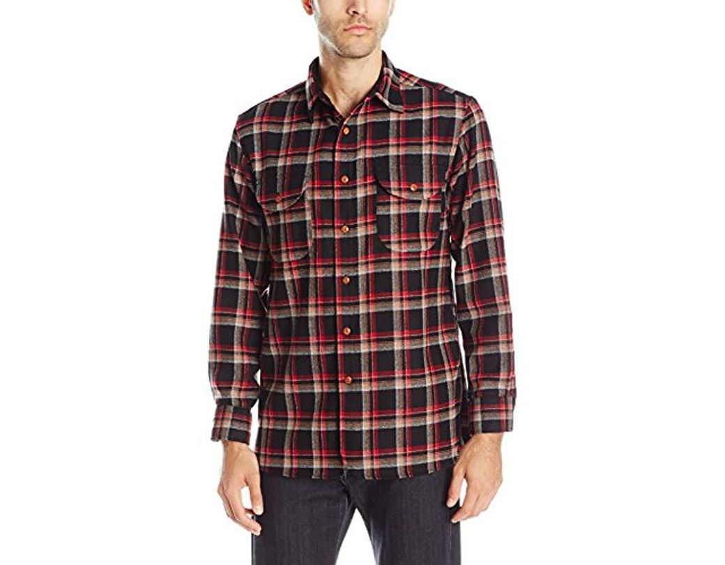 9800128a Pendleton Long Sleeve Fitted Buckley Shirt in Red for Men - Save 37% - Lyst
