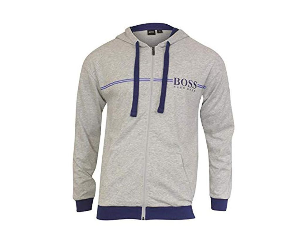 76a195066 BOSS. Men's Gray Authentic Full Zip Hooded Jacket. $115 From Amazon Prime