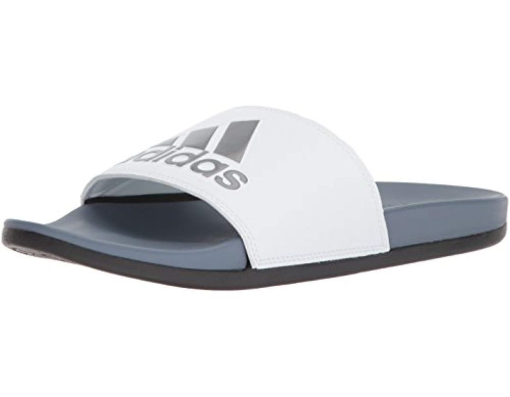 01a8b987480f Lyst - adidas Adilette Cf+ Slide Sandal in White for Men - Save 55%