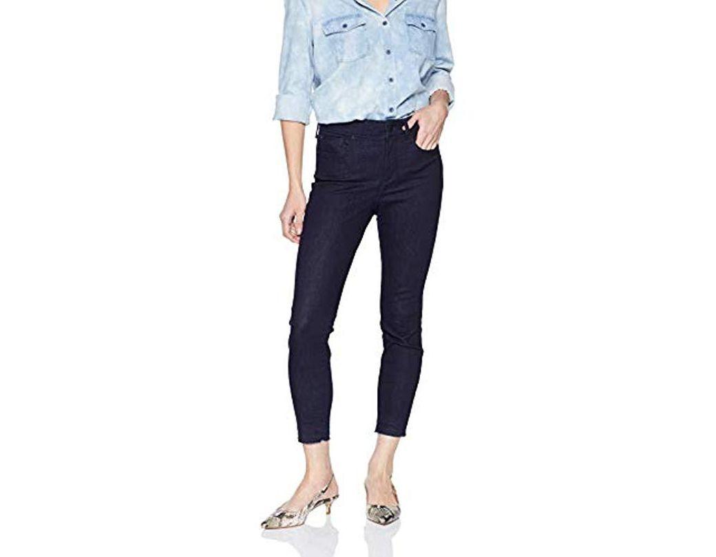 1b58e4e3f30d5f Lyst - NYDJ Petite Ankle Pants With Hem in Blue