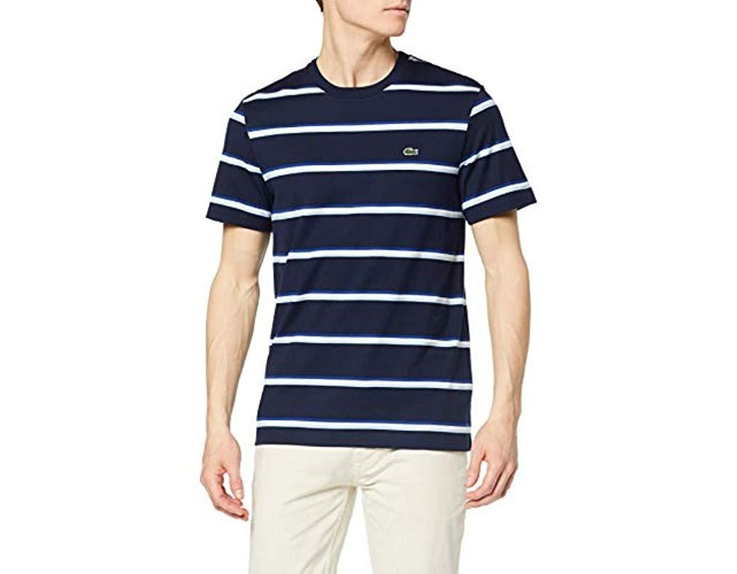 350029b55b Lacoste Blue Marine Striped T-shirt in Blue for Men - Save 2% - Lyst