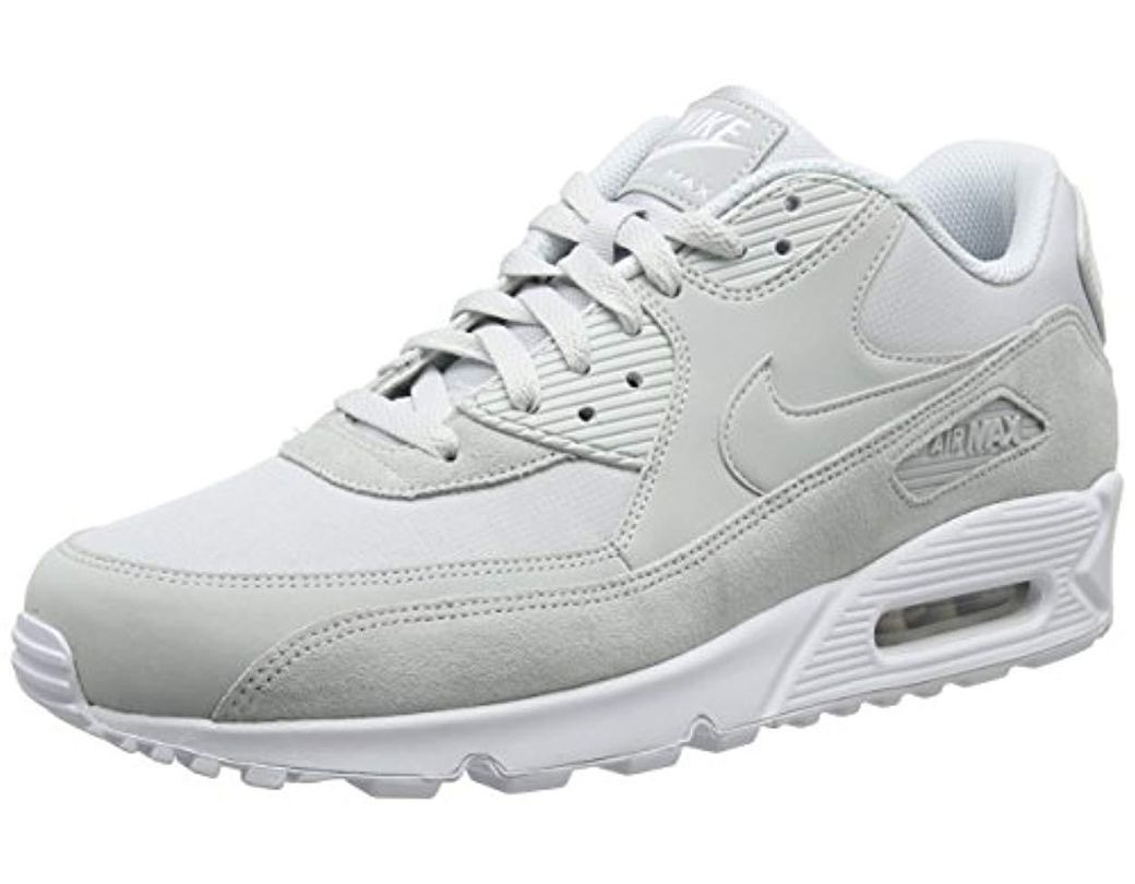 14412a89fd57a Nike Air Max 90 Essential Gymnastics Shoes Black in Gray for Men ...