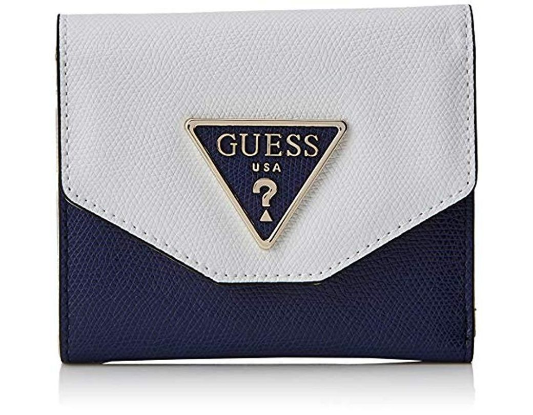 ddcbe64fb1 Guess Maddy Slg Small Trifold Purse in Blue - Lyst