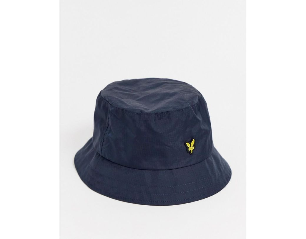 bfe7256c Lyle & Scott Ripstop Bucket Hat In Navy in Blue for Men - Save 20% - Lyst