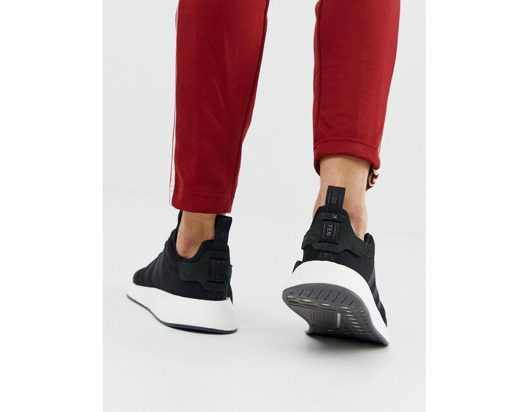 1b7aa136de8c9 Lyst - adidas Originals Nmd R2 Boost Sneakers In Black Cq2402 in ...