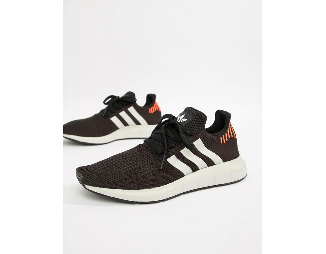 b6f069b0c Lyst - adidas Originals Swift Run Sneakers In Black B37730 in Black ...