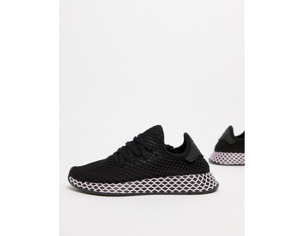 3220b899f8ede Lyst - adidas Originals Deerupt Sneakers In Black And Lilac in Black