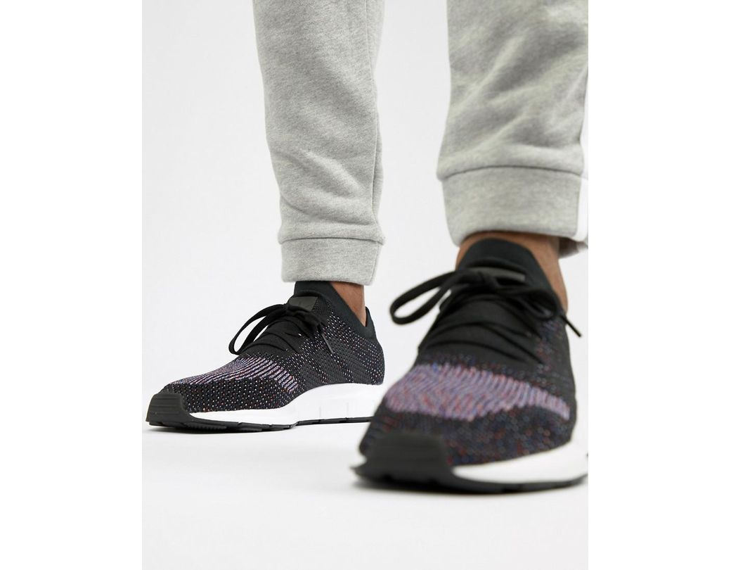 92f1aee02 adidas Originals Swift Run Primeknit Sneakers In Black Cq2894 in ...