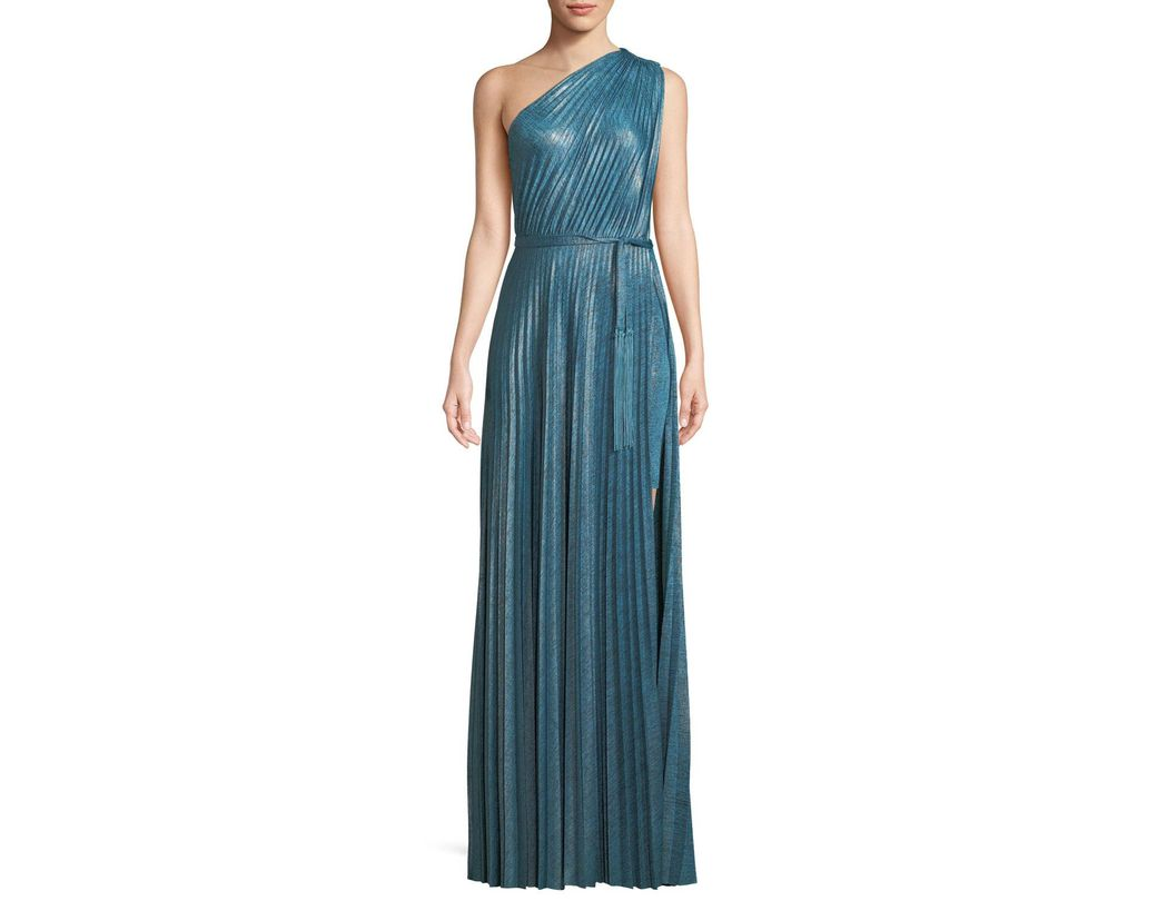 f20c6176f1 Elie Tahari Mistry Pleated One-shoulder Dress in Blue - Save 50% - Lyst